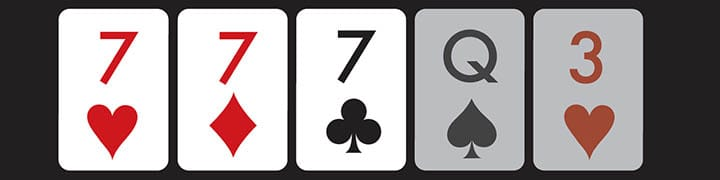 poker hands order three of a kind