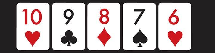 poker hands ranked straight